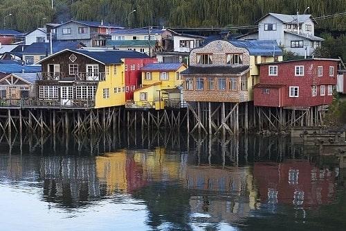 Maisons colorées de l'île de Chiloé